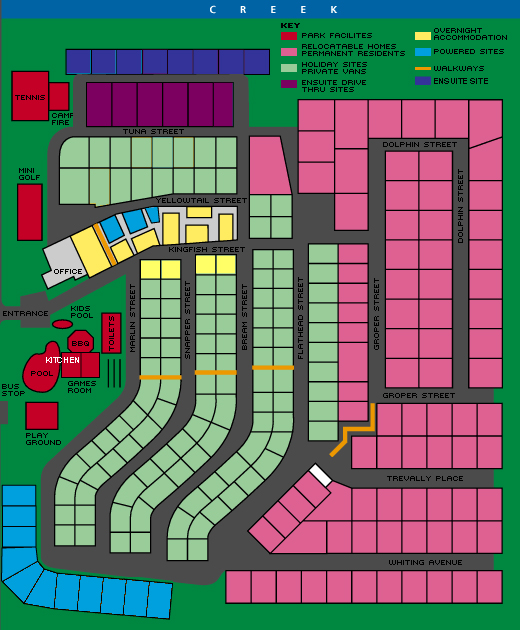 Mountain View Resort Park Map