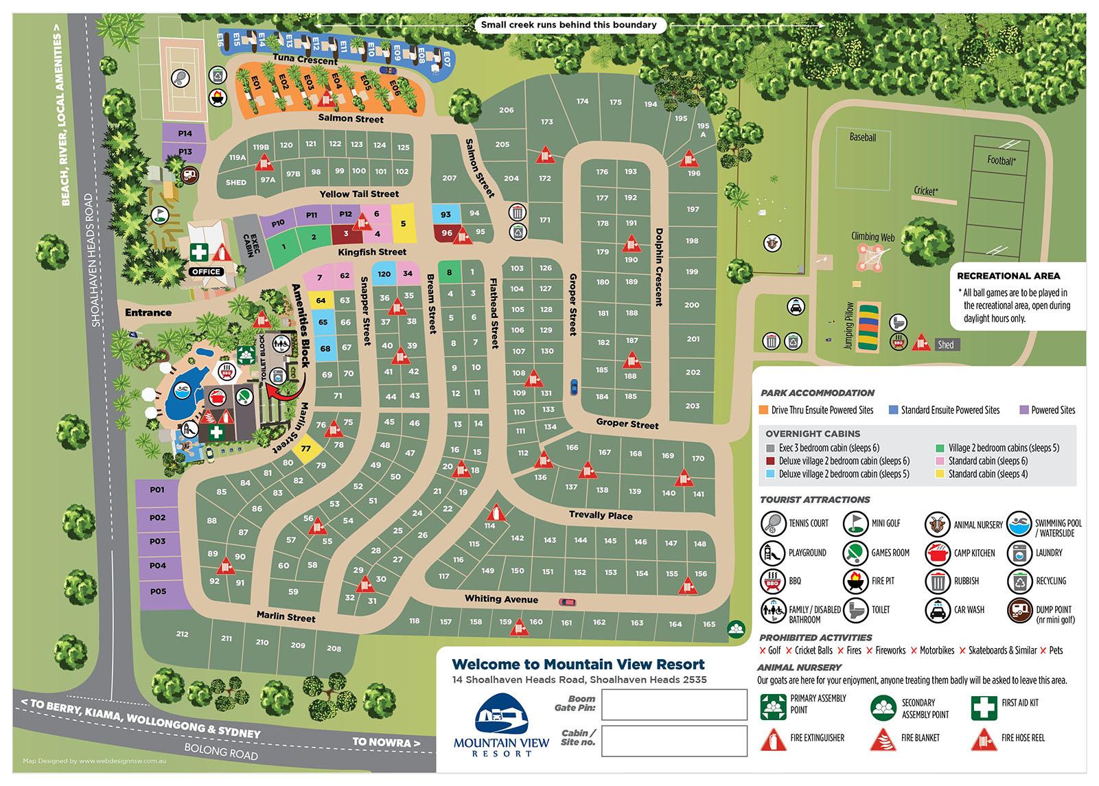 Mountain View Resort Park Map
